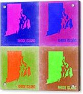 Rhode Island Pop Art Map 2 Acrylic Print