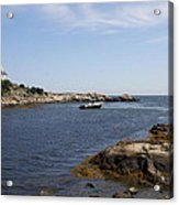 Rhode Island Seascape And House Acrylic Print