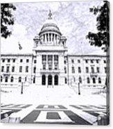 Rhode Island State House Bw Acrylic Print