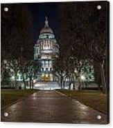 Rhode Island State House In Providence Rhode Island Acrylic Print