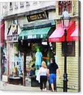 Rhode Island - Thames Street Newport Ri Acrylic Print