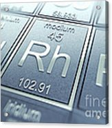 Rhodium Chemical Element Acrylic Print