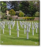 Rhone American Cemetery Acrylic Print