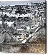 Rhymney Valley Winter 2 Acrylic Print