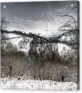 Rhymney Valley Winter 5 Acrylic Print