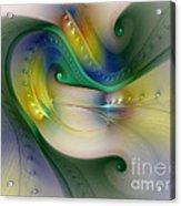 Rhythm Of Life-abstract Fractal Art Acrylic Print