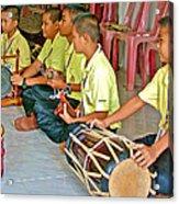 Rhythm Section In Traditional Thai Music Class  At Baan Konn Soong School In Sukhothai-thailand Acrylic Print