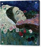 Ria Munk On Her Deathbed Acrylic Print