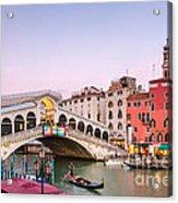 Rialto Bridge At Sunset - Venice Acrylic Print