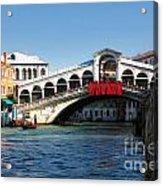 Rialto Bridge Venice Acrylic Print