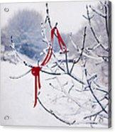 Ribbon In Tree Acrylic Print