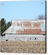 Ribbon Roof Barn Acrylic Print