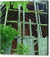 Ribs Of A Decaying Barn Acrylic Print