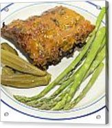 Ribs Plate With Vegetables Acrylic Print