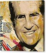 Richard Nixon Acrylic Print by Corporate Art Task Force