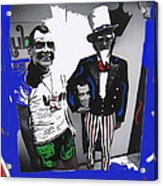 Richard Nixon Masks Uncle Sam Collage  Democratic National Convention Miami Beach Florida 1972-2008 Acrylic Print
