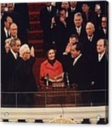 Richard Nixon Taking The Oath Of Office Acrylic Print