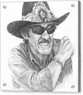 Richard Petty Pencil Portrait Acrylic Print