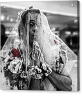 Richard Simmons Is A Blushing Bride Acrylic Print