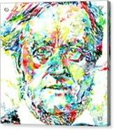 Richard Wagner Watercolor Portrait Acrylic Print