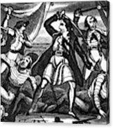 Richard Worley (c1686-1719) Acrylic Print