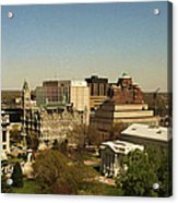 Richmond Virginia - Old And New Capitol Buildings Acrylic Print