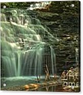 Ricketts Glen Shawnee Waterfall Acrylic Print