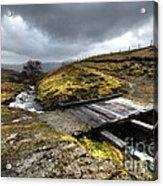 Rickety Bridge On Honiston Pass  Acrylic Print
