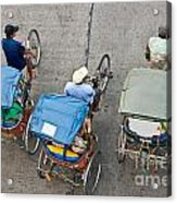 Rickshaw Driver - Bangkok Acrylic Print