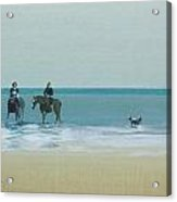 Riders On The Beach Acrylic Print