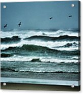 Riders On The Storm 1 - Outer Banks Acrylic Print by Dan Carmichael