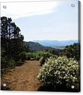 Ridgetop Trail Continues Acrylic Print