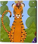 Riding A Tiger Acrylic Print