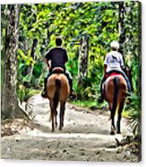 Riding In The Woods Acrylic Print