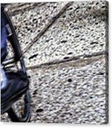 Riding On The Sidewalk Acrylic Print