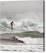 Riding The Waves In A Snow Storm Acrylic Print by Tim Grams
