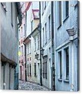 Riga Narrow Street Acrylic Print