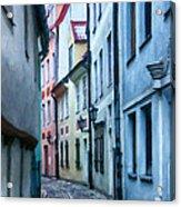Riga Narrow Street Painting Acrylic Print