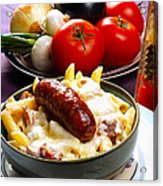 Rigatoni And Sausage Acrylic Print by Camille Lopez