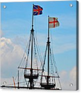 Rigging And Flags Acrylic Print
