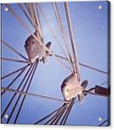 Rigging Acrylic Print by Maeve O Connell