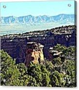 Rim Rock Scenic Lookout Acrylic Print