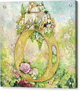 Ring And Rose Acrylic Print