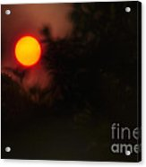 Ring Of Fire - Eerie Bushfire Sunset Acrylic Print
