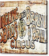 Ringling Brothers And Barnum And Bailey Circus Acrylic Print