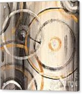 Rings Of Gold Abstract Painting Acrylic Print