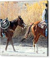 Rio Grande Cowboy Acrylic Print