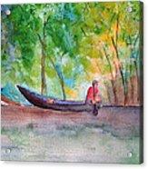 Rio Negro Canoe Acrylic Print