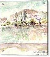 Rio Negro Acrylic Print by David  Hawkins