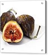 Ripe Figs Isolated Acrylic Print